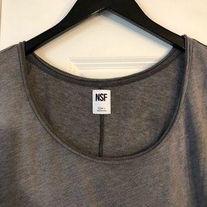 NSF Tops - NSF Pigmented Black Distressed Short Sleeve Tee